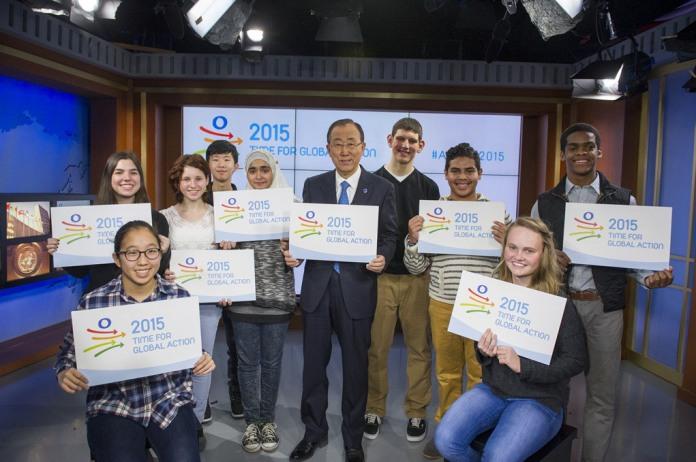 Küresel Eylem Zamanı kampanyası STK'ların desteğiyle başlarken, BM Genel Sekreteri, 15 yaş grubu çocuklar ile beraber bu yılın önemini vurgulayan bir video çekimi yaptı.