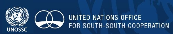UNOSSC logosu, Güney yarım küredeki ülkeler arasına kurulan bir köprüyü, yani Güney-Güney kalkınma işbirliğini temsil ediyor.